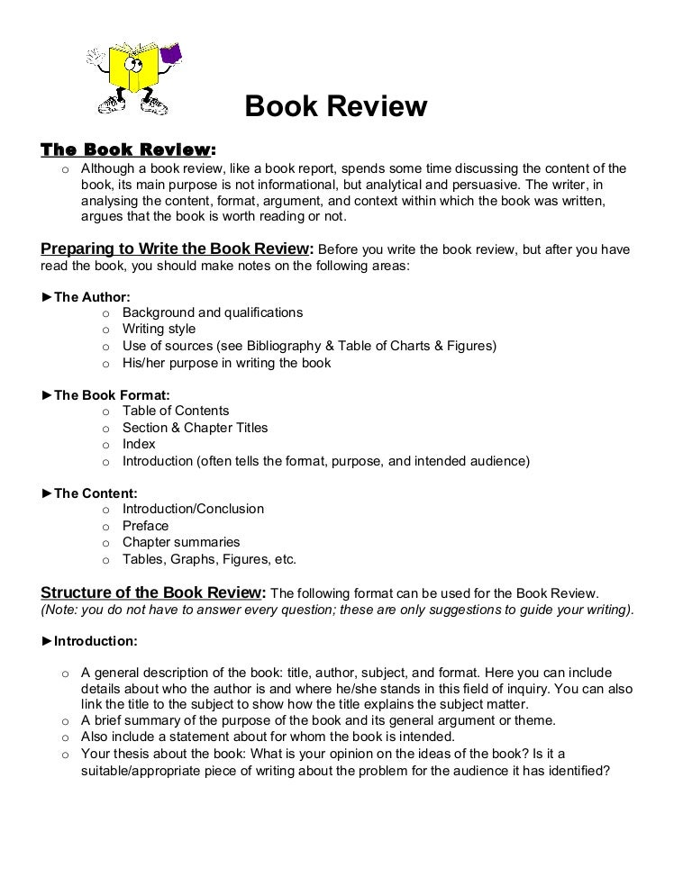 book review format 1 - Example Of Book Review Essay