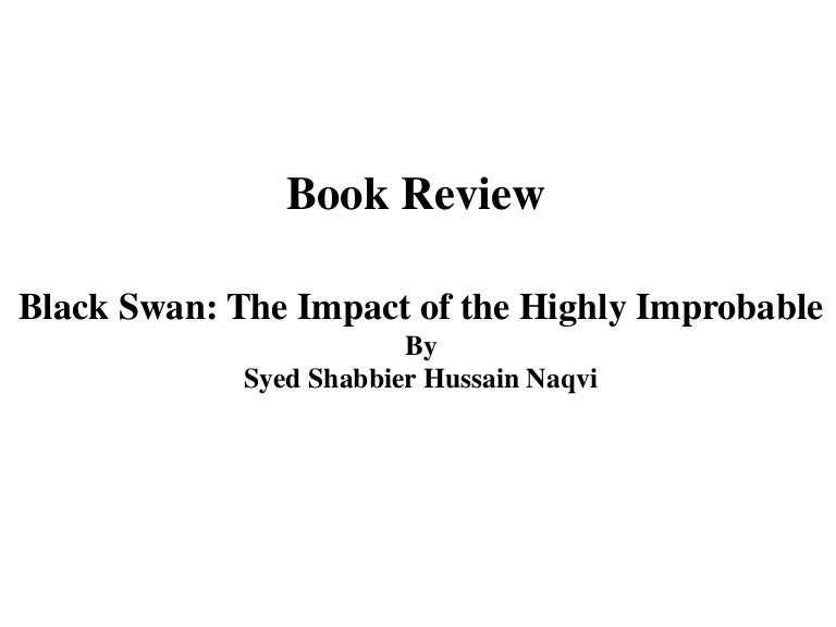 book review slides  u0026quot the black swan u0026quot