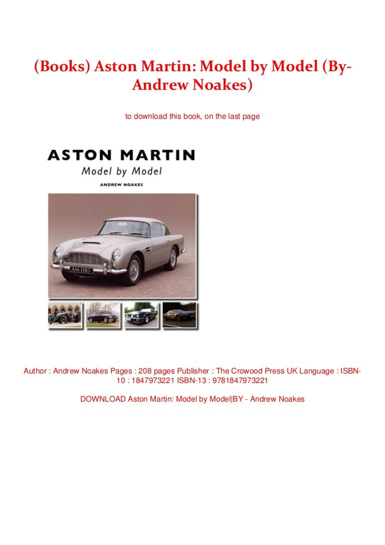 Books Aston Martin Model By Model By Andrew Noakes