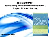 Book Review: How Learning Works: Seven Research-Based Principles for Smart Teaching