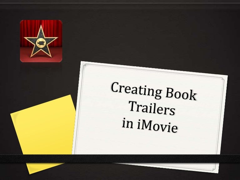 how to create book trailers