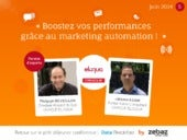 Boostez vos performances grace au marketing automation !