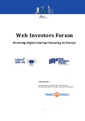 Boosting Digital Startup Financing in Europe by France Digitale