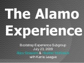 Bootstrap Experience Alamo Drafthouse 7 23 2009