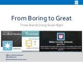 Boring to Great | Social Media POV