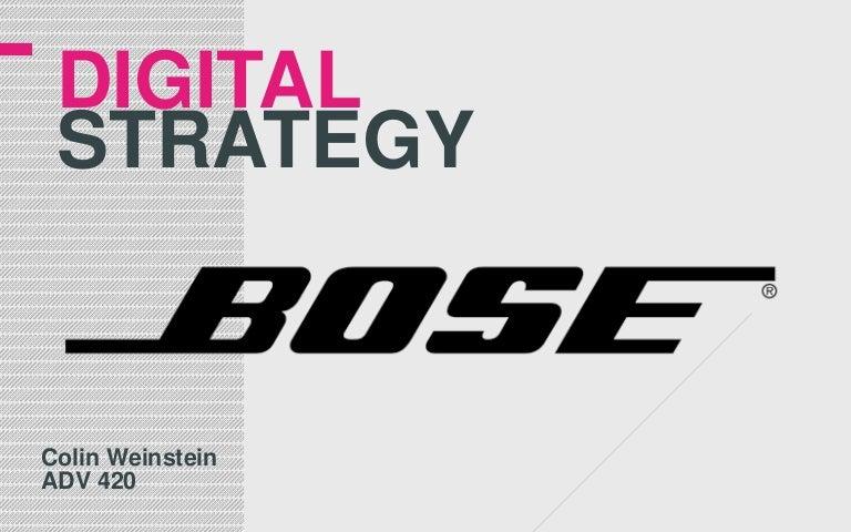 bose corporation marketing strategy