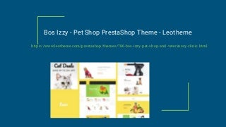 Bos Izzy Pet Shop PrestaShop Theme - Leotheme
