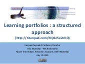 Learning portfolios workshop: a structured approach