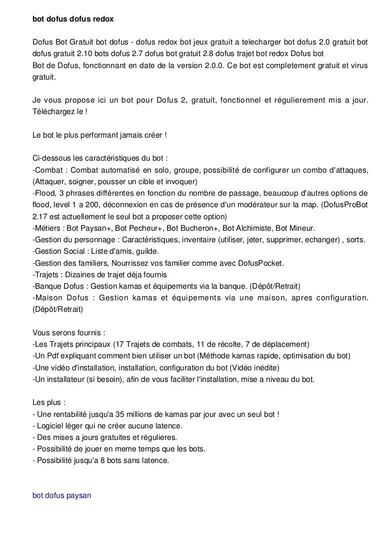 GRATUIT TÉLÉCHARGER PAYSAN DOFUS BOT