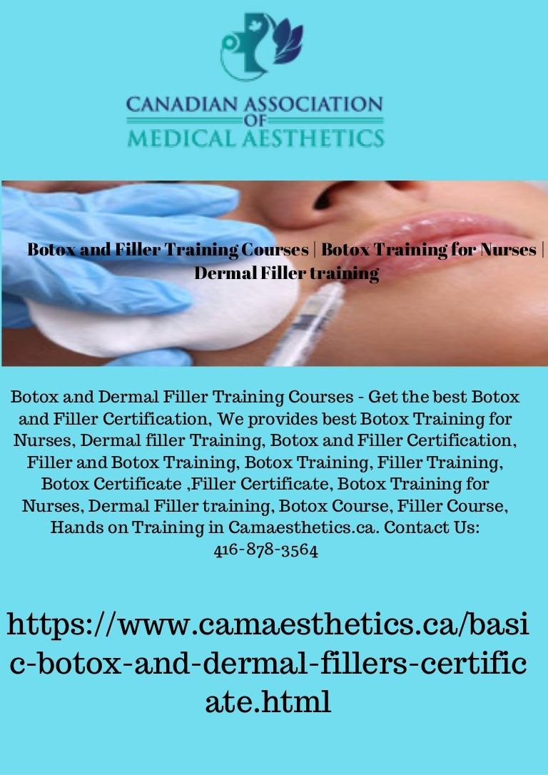 Botox And Filler Certification