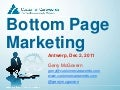 Gerry McGovern: Bottom Page Marketing