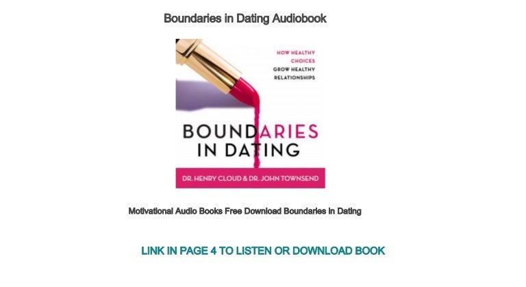 Boundaries in dating audio the dating goddess