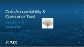 Data Accountability & Consumer Trust
