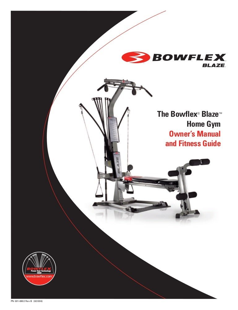 bowflex blaze workouts and manual rh slideshare net Bowflex Extreme 2 Manual Bowflex Sport Home Gym Manual