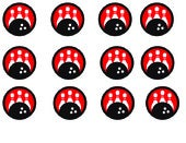 Bowling birthday cupcake toppers