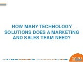 How many technology solutions does a marketing and sales team need?