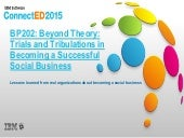 BP202: Beyond Theory: Trials and Tribulations in Becoming a Successful Social Business
