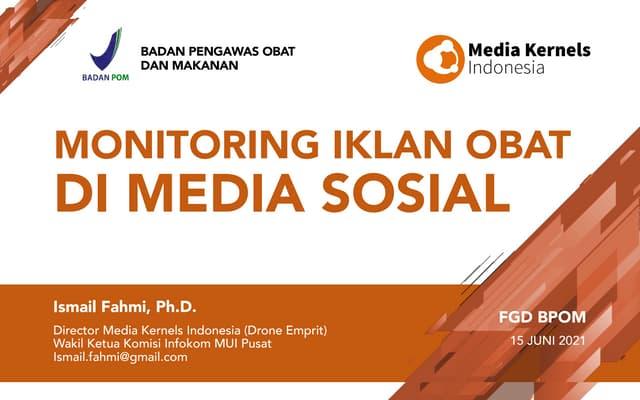 Monitoring Iklan Obat di Media Sosial
