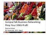 Campus Talk, Basel (Switzerland): Pimp your XING Profile