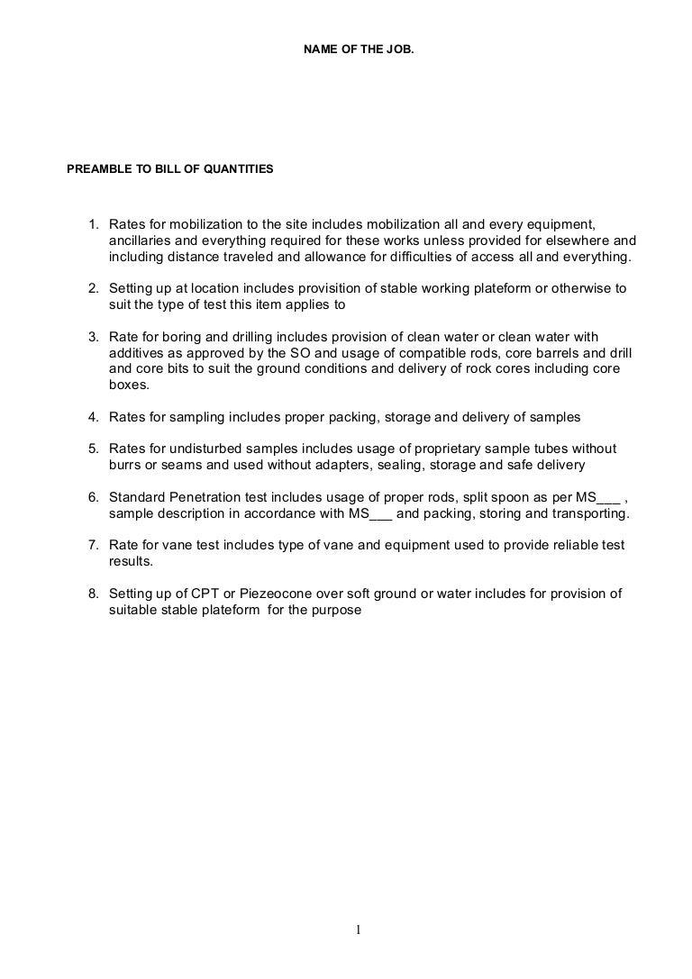 Bq preamble