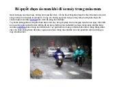 Bí quyết chọn áo mưa khi đi xe máy trong mùa mưa