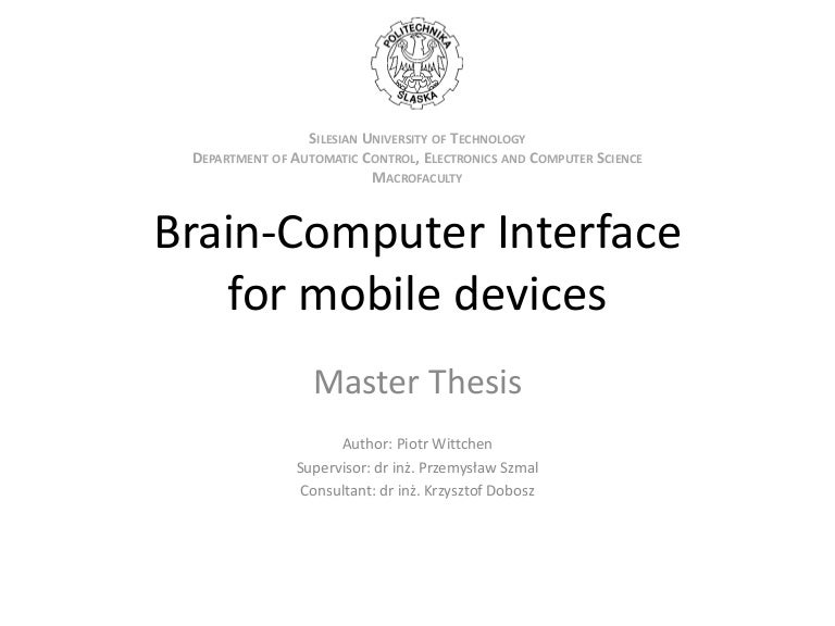 Master thesis for computer