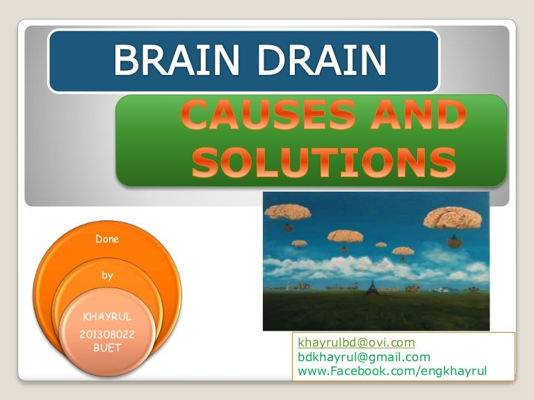 Brain drain short essay about myself Free Essay  Impact Of Brain Drain In Developing Countries