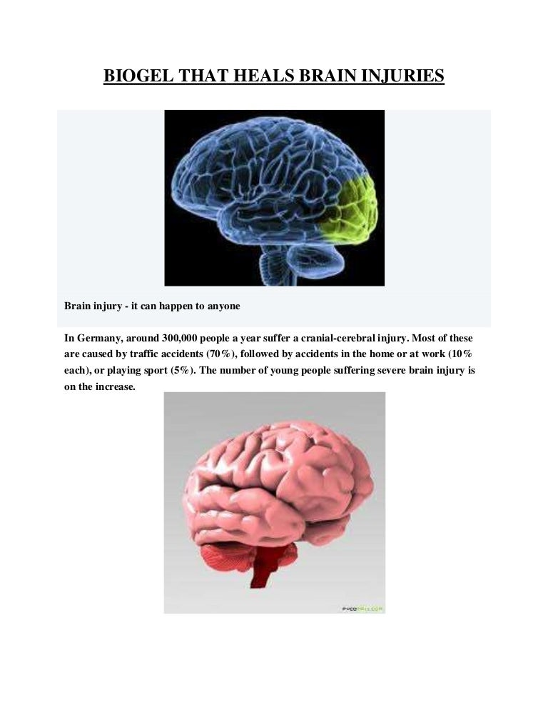 Brains Of Young People With Severe >> Biogel Heals Brain Injury