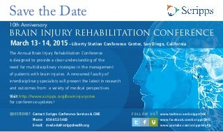 Brain Injury Conference Brochure 2015