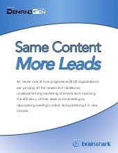 Same Content More Leads