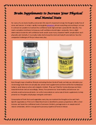 Brain supplements to increase your physical and mental state