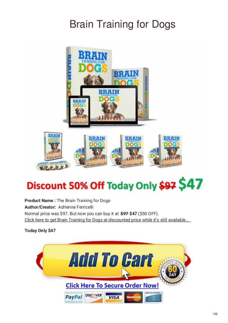 Buy Brain Training 4 Dogs Discount Voucher Code Printables 2020