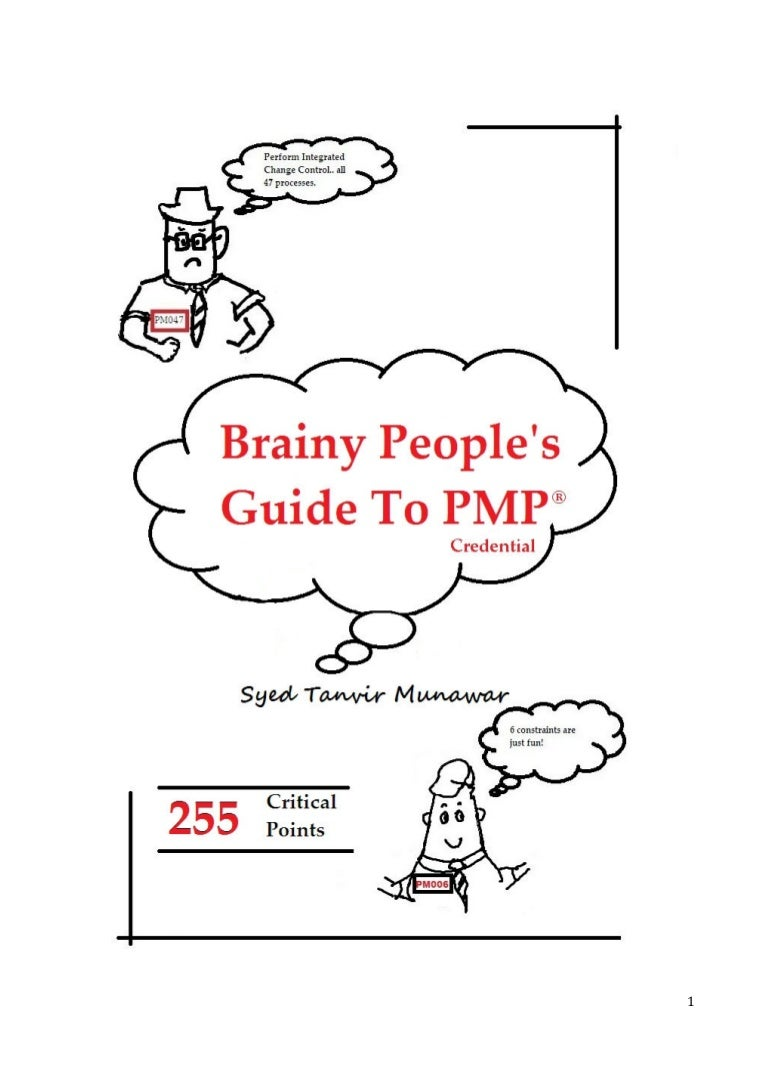 Brainy peoples guide to pmp credential 255 critical points 1betcityfo Choice Image