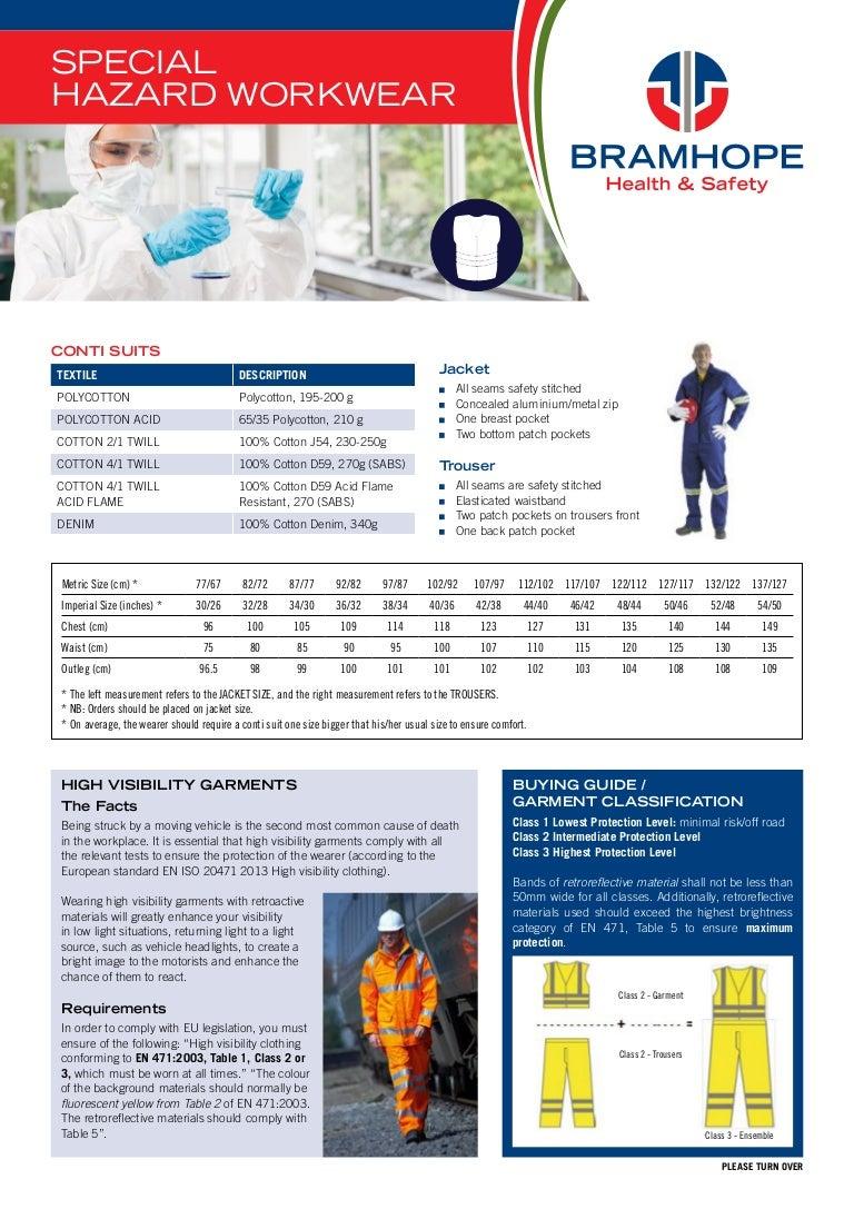 BRAMHOPE HEALTH & SAFETY - SPECIAL HAZARD WORK WEAR