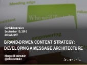 Brand-driven Content Strategy: Developing a Message Architecture workshop at Confab Intensive 2016