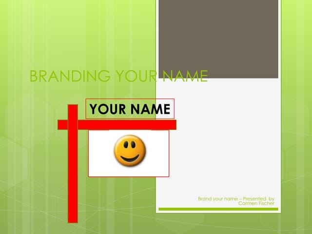 Branding your name