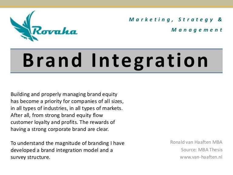 brand equity thesis