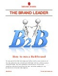How to run a B2B brand