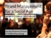 Brand Management For A Social Age