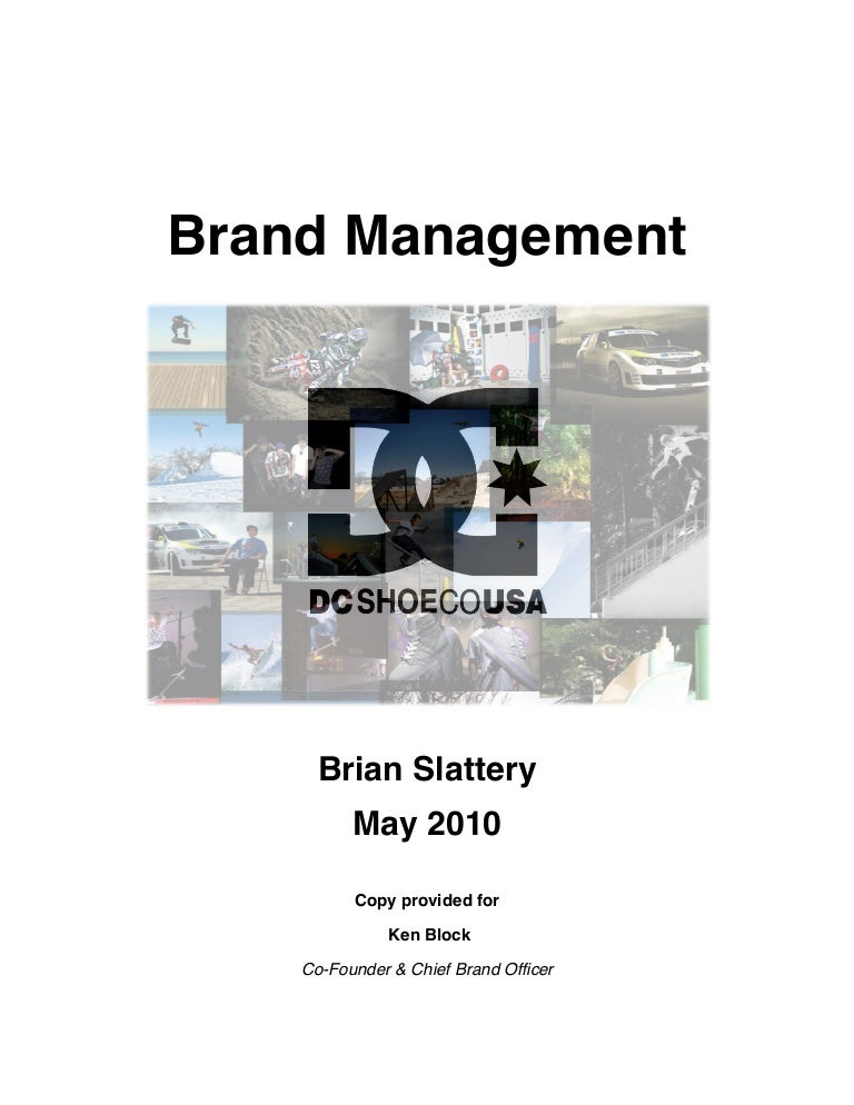 DC Shoes - Brand Mgmt Research Paper