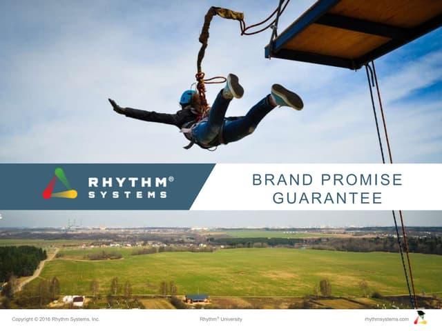 Brand Promise Guarantee Rhythm University Slideshare