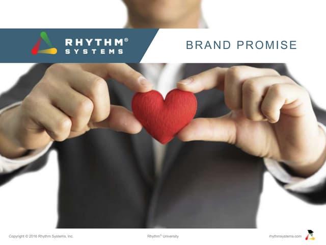 Brand Promise Rhythm University Slideshare