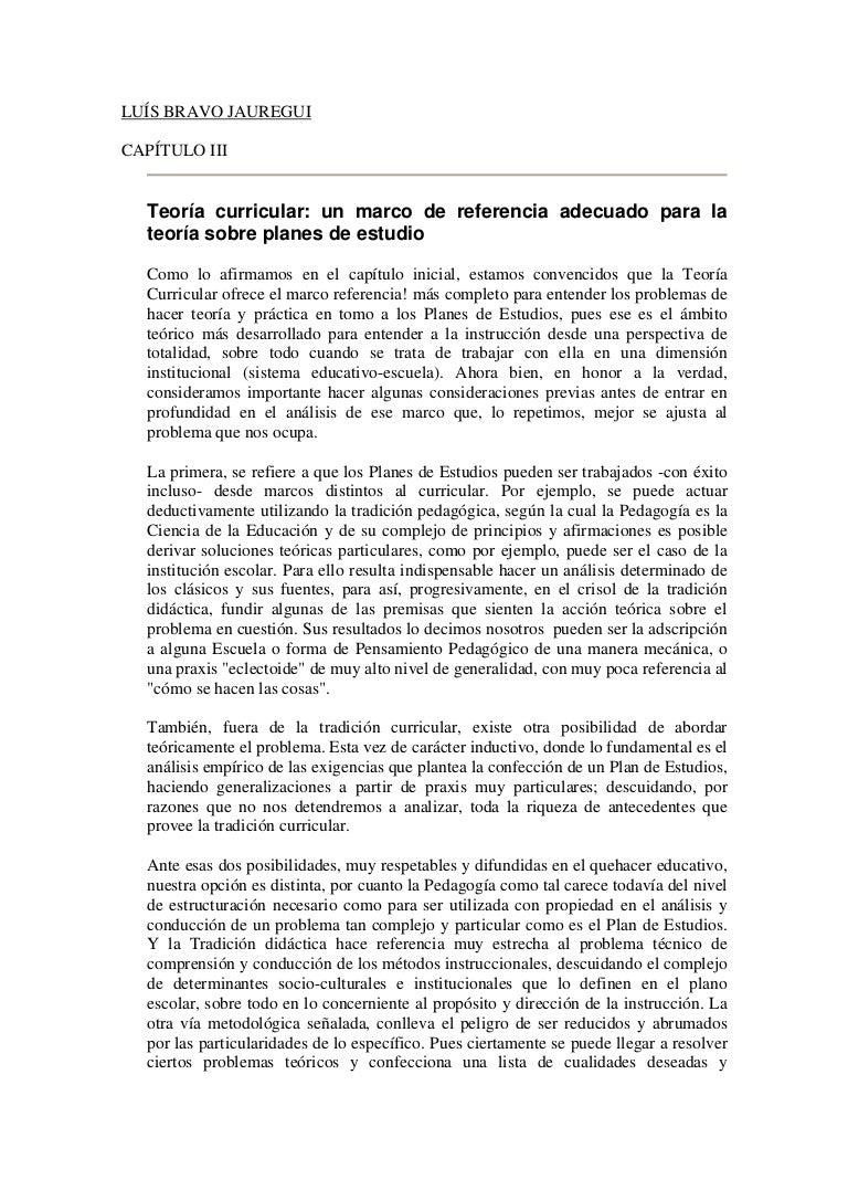 Bravo jauregui, l. teoria curricular iii