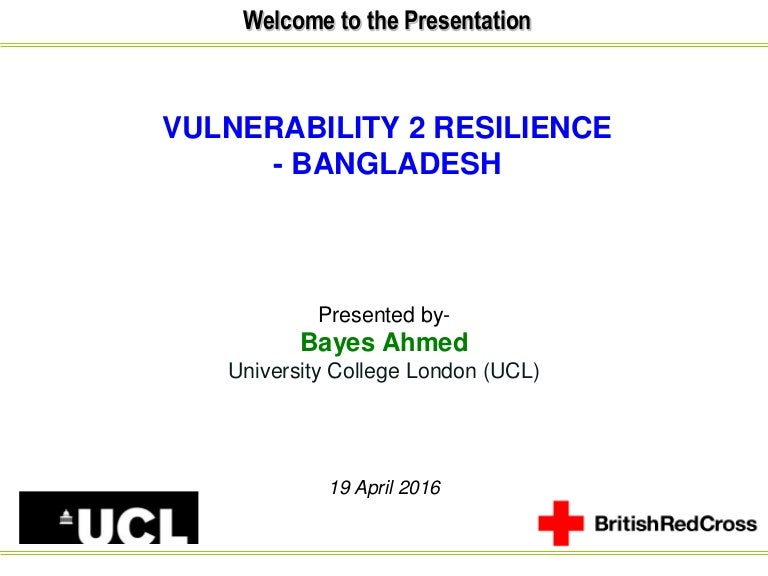 Vulnerability to Resilience - Bangladesh