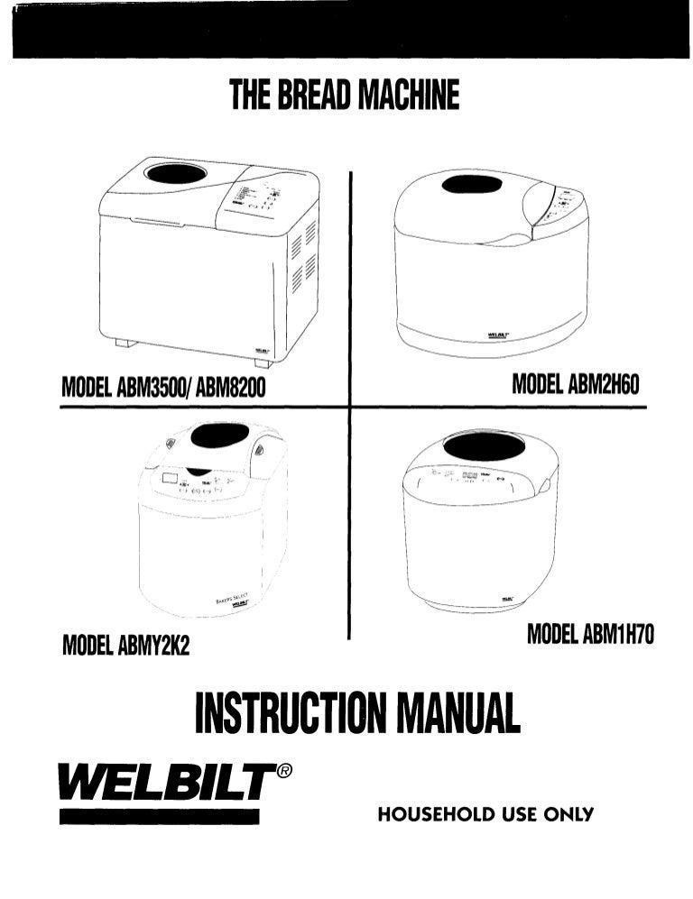 Bread machine (welbilt) manual