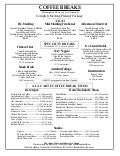 Breakfast & Coffee Break Menus