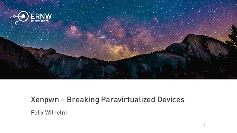 Breaking paravirtualized devices