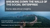Breaking down the walls of the Social Enterprise