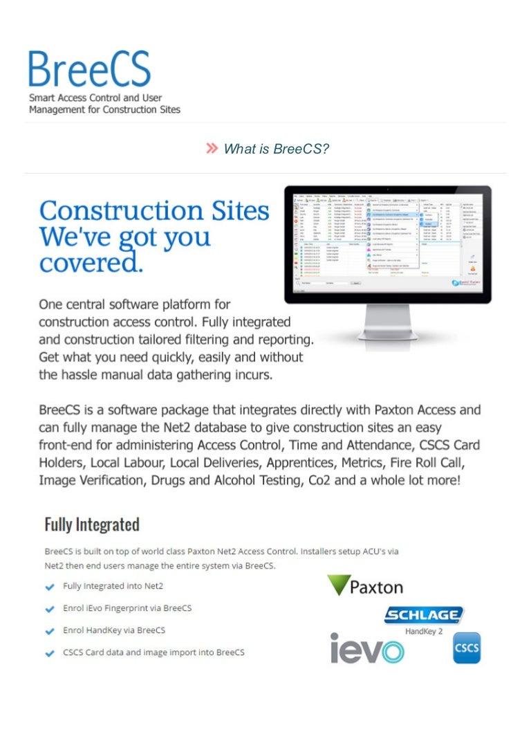 BreeCS - Construction Site Software
