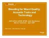 Breeding for wood quality april 2007